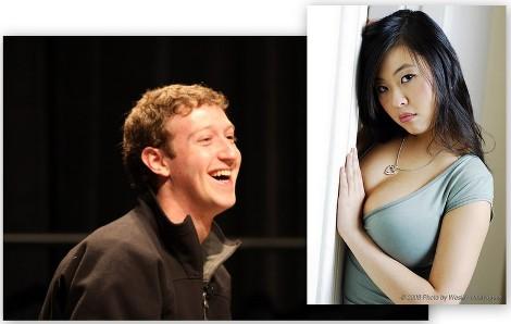 Criador do Facebook e sua namorada delicinha