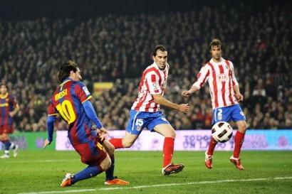 Barcelona 3 - 0 Atlético de Madrid. 05.02.2011 Gol de Messi