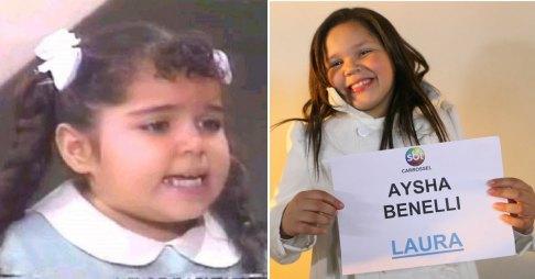A mesma atriz, antes e depois da chapinha