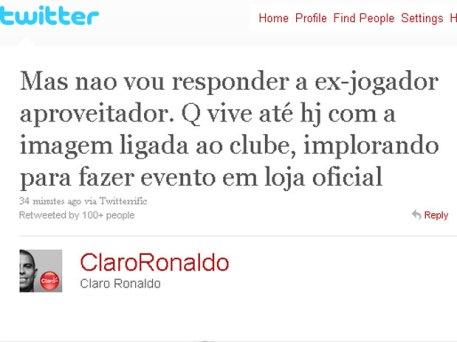 Homenagem de Ronaldo ao craque Neto