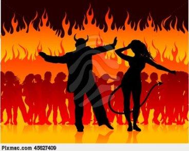 Sto Cristo dançando no inferno -REPRODUÇÃO-